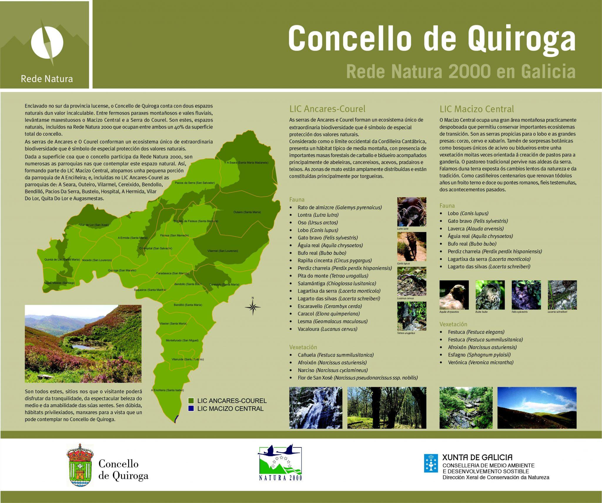Panel Quiroga da Rede Natura 2000