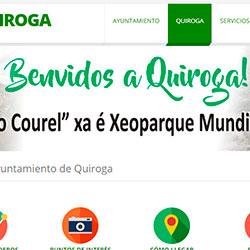 Anuncio da nova web do Concello de Quiroga