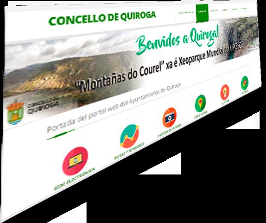 Nova web do Concello de Quiroga