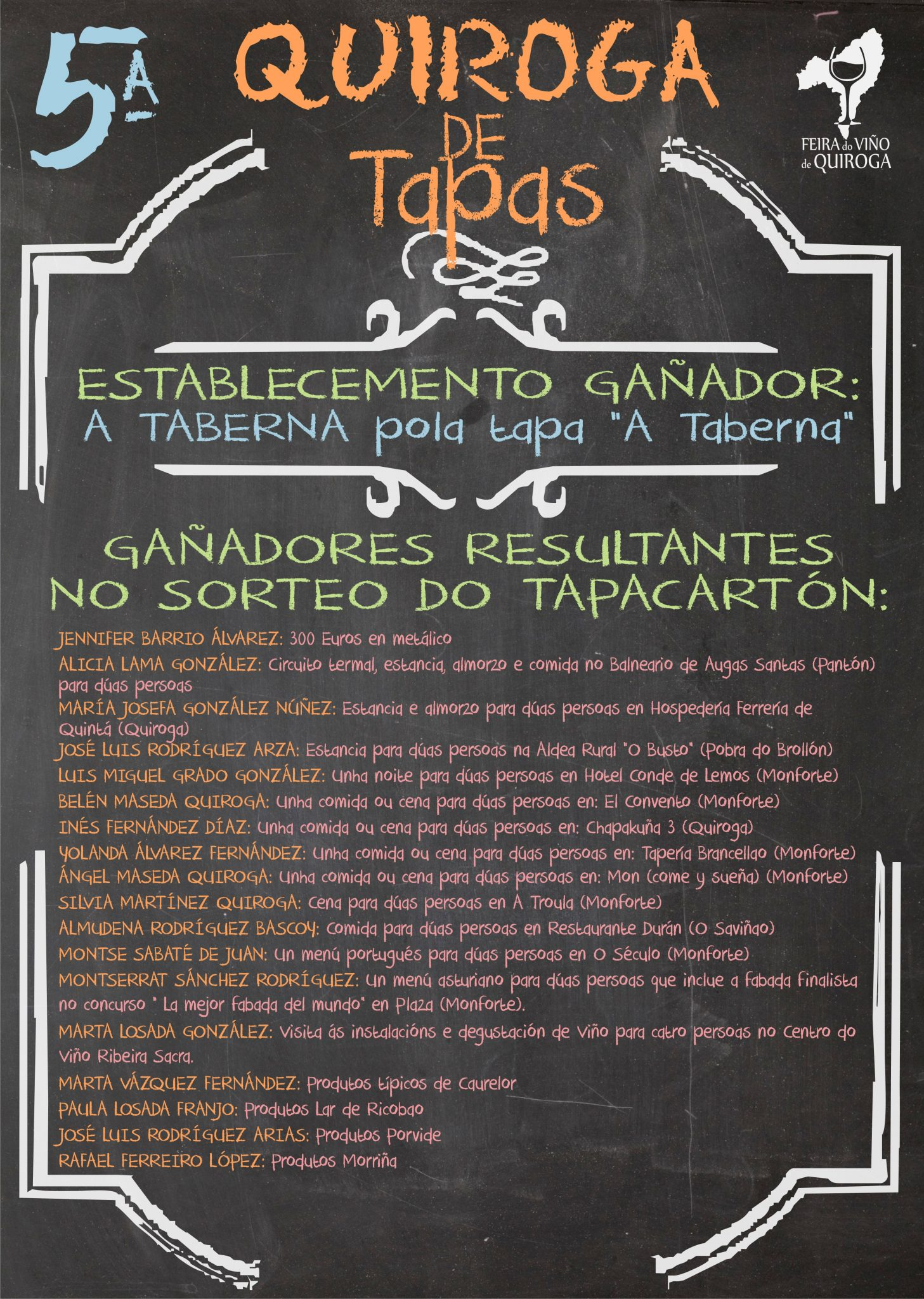 Cartel do 5º «Quiroga de Tapas»