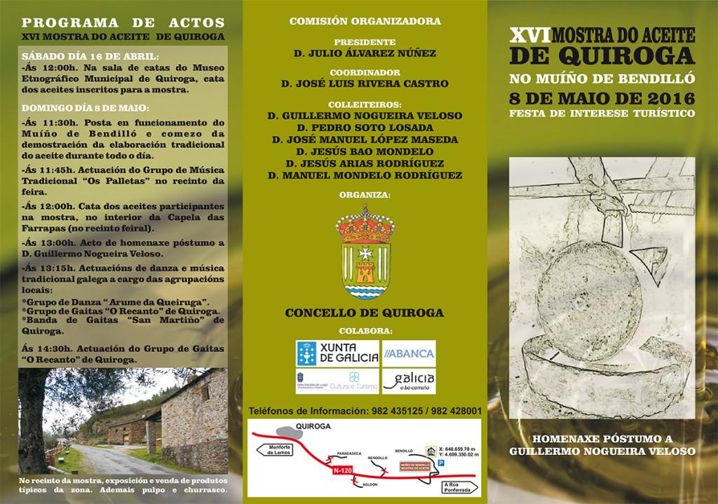 Programa XVI Mostra do Aceite de Quiroga