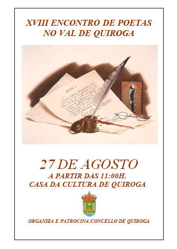 Cartel del XVIII Encuentro de Poetas en el Valle de Quiroga