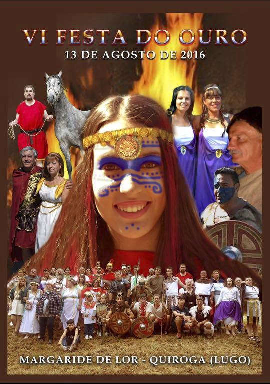 Cartel de la VI Fiesta del Oro de Margaride