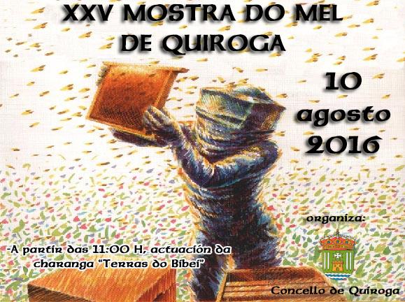 Anuncio da XXV Mostra do Mel de Quiroga