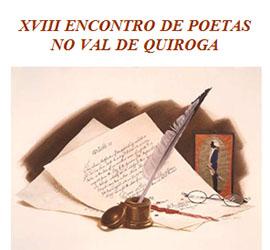 Anuncio do XVIII Encontro de Poetas no Val de Quiroga