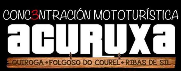 Anuncio da III Concentración Mototurística «A Curuxa» no Concello de Quiroga