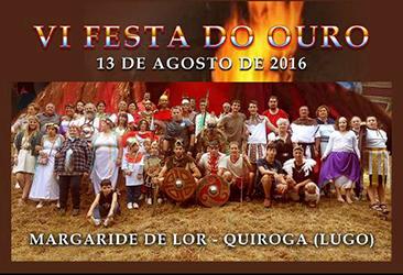 Anuncio da VI Festa do Ouro de Margaride