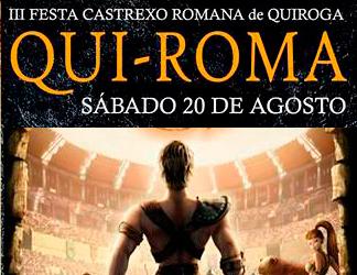 Anuncio do QUI-ROMA 2016 no Concello de Quiroga