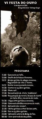 Programa de la VI Fiesta del Oro de Margaride
