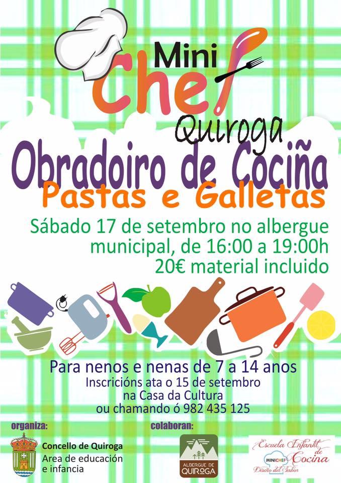 Cartel del Taller de cocina para niñ@s