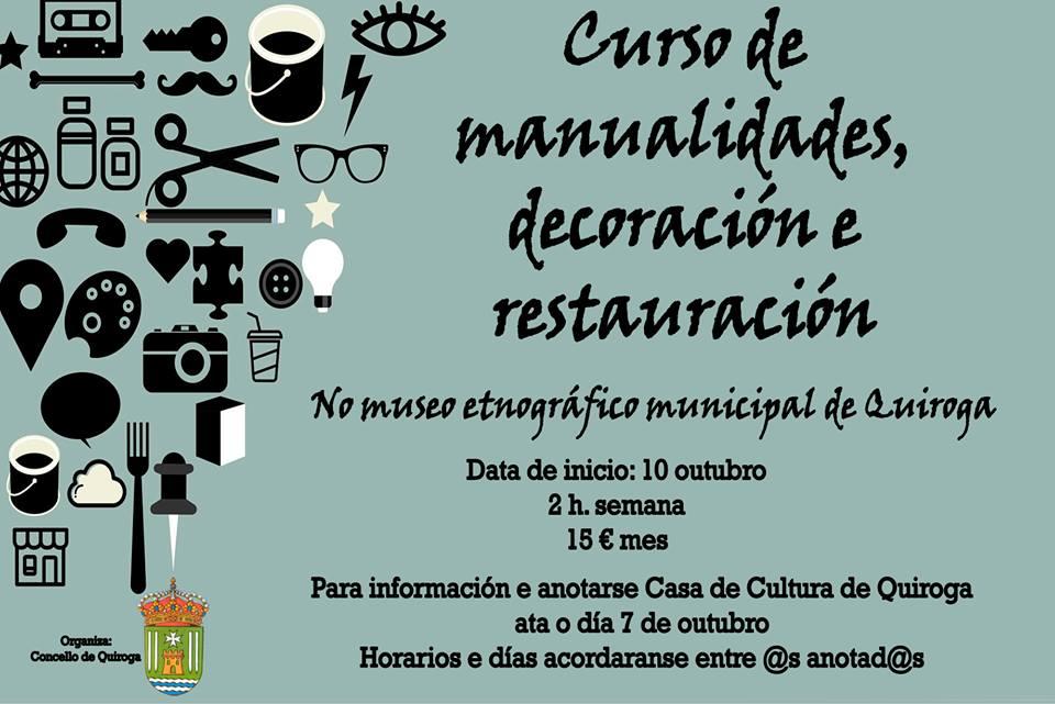 Cartel del Curso de Manualidades, decoración y restauración