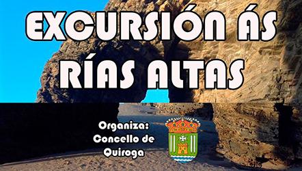 Anuncio da Excursión ás Rías Altas dende Quiroga