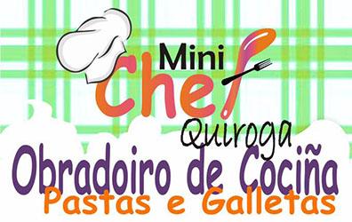Anuncio do Obradoiro de cociña para nen@s: pastas e galletas