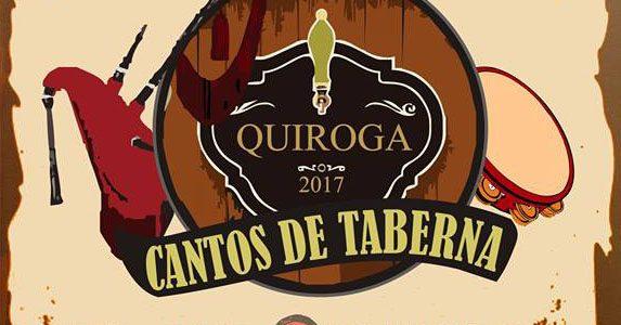Anuncio do II «Cantos de Taberna» no Concello de Quiroga