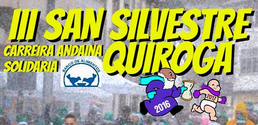 Anuncio da III San Silvestre no Concello de Quiroga