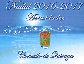 Anuncio das actividades para o Nadal 2016-2017 no Concello de Quiroga