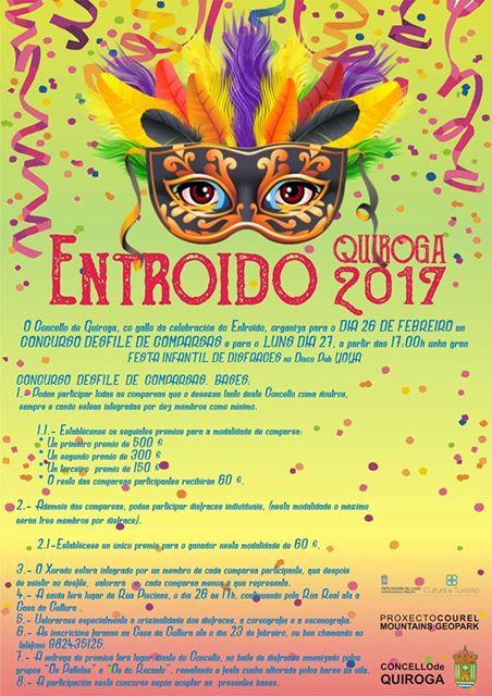Cartel del Carnaval 2017 en Quiroga