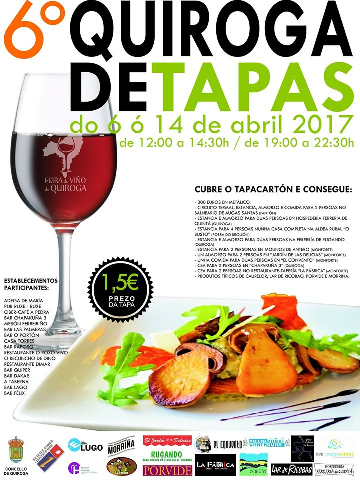 Cartel do 6º «Quiroga de Tapas»