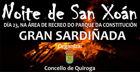 Anuncio da Noite de San Xoán no Concello de Quiroga