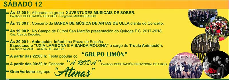 Festas de verán 2017: Sábado 12