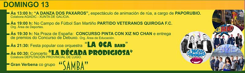 Festas de verán de Quiroga 2017: Domingo 13
