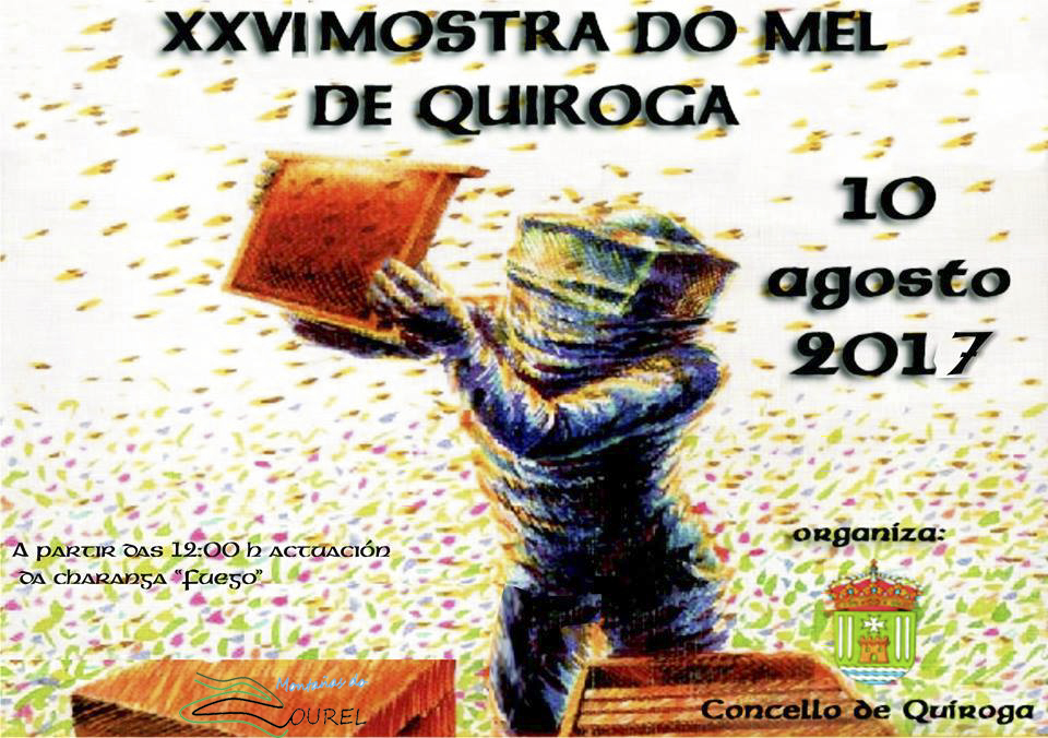 Cartel de la XXVI Muestra de la miel de Quiroga