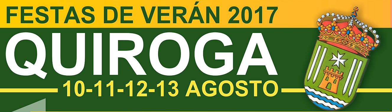 Anuncio das Festas de verán 2017 en Quiroga