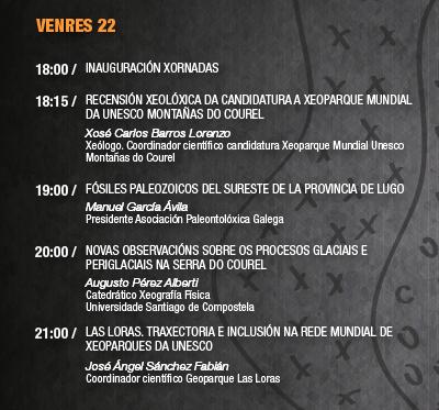 """III Xornadas """"Xeoloxía Montañas do Courel"""": Venres 22"""