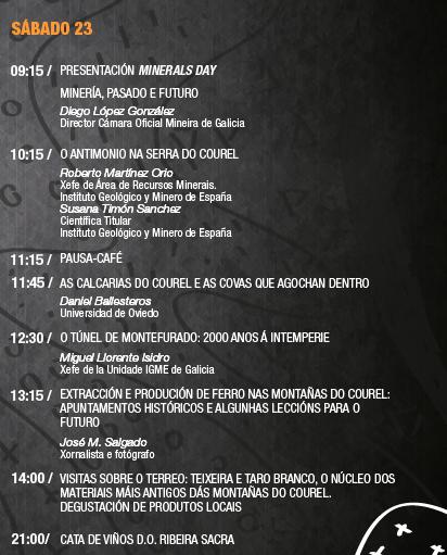"""III Xornadas """"Xeoloxía Montañas do Courel"""": Sábado 23"""