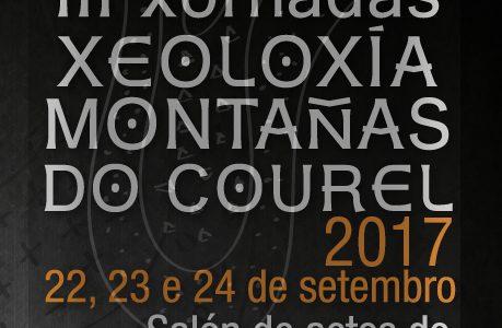 """Anuncio das III Xornadas """"Xeoloxía Montañas do Courel"""""""