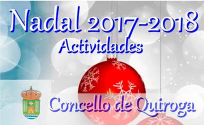 Anuncio das actividades para o Nadal 2017-2018 no Concello de Quiroga