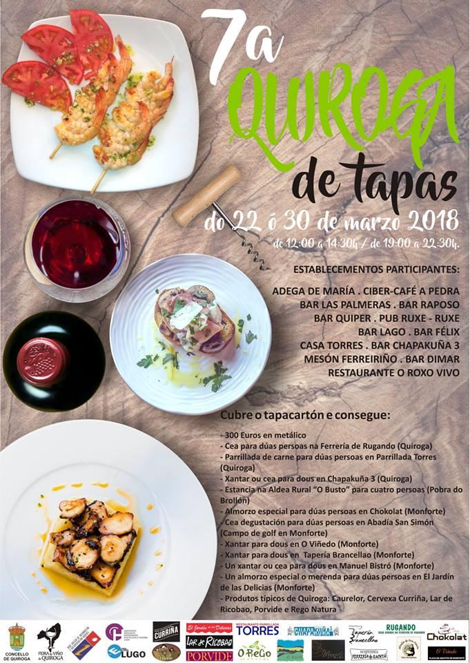 7ª edición do concurso «Quiroga de Tapas»