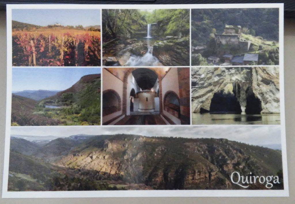 Anverso de la postal promocional de Quiroga