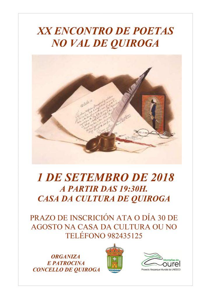 XX Encuentro de poetas en el valle de Quiroga