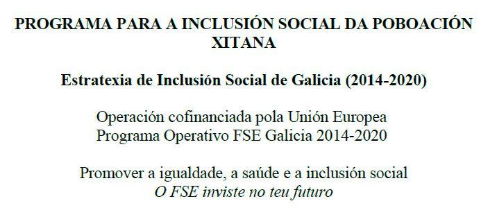 Programa para la inclusión social de la población gitana en el Ayuntamiento de Quiroga (2018)