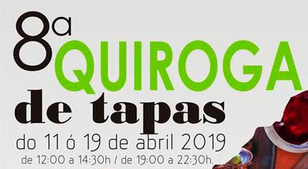 Cartel do oitavo concurso «Quiroga de Tapas»