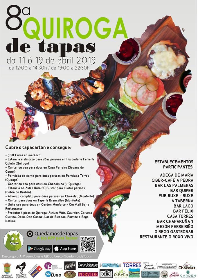 Cartel de la octava edición de Quiroga de Tapas