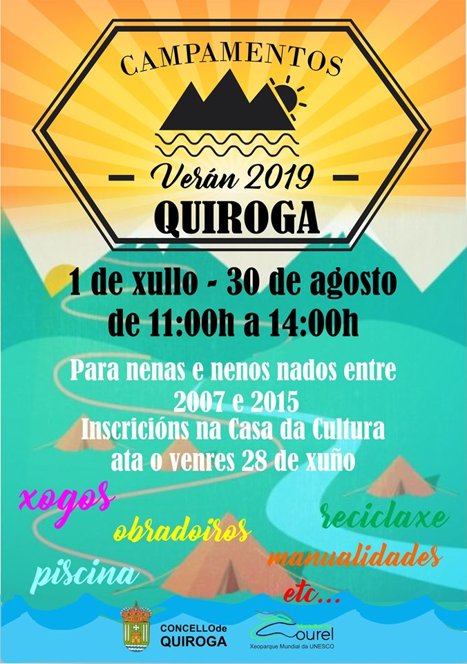 Campamentos de verán 2019 en Quiroga