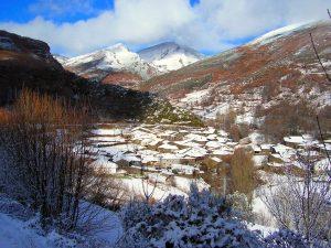 Aldea de A Seara en invierno