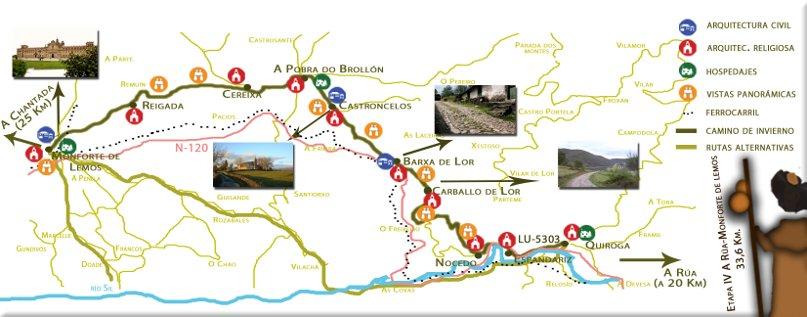 Cuarta etapa: Quiroga – Monforte de Lemos