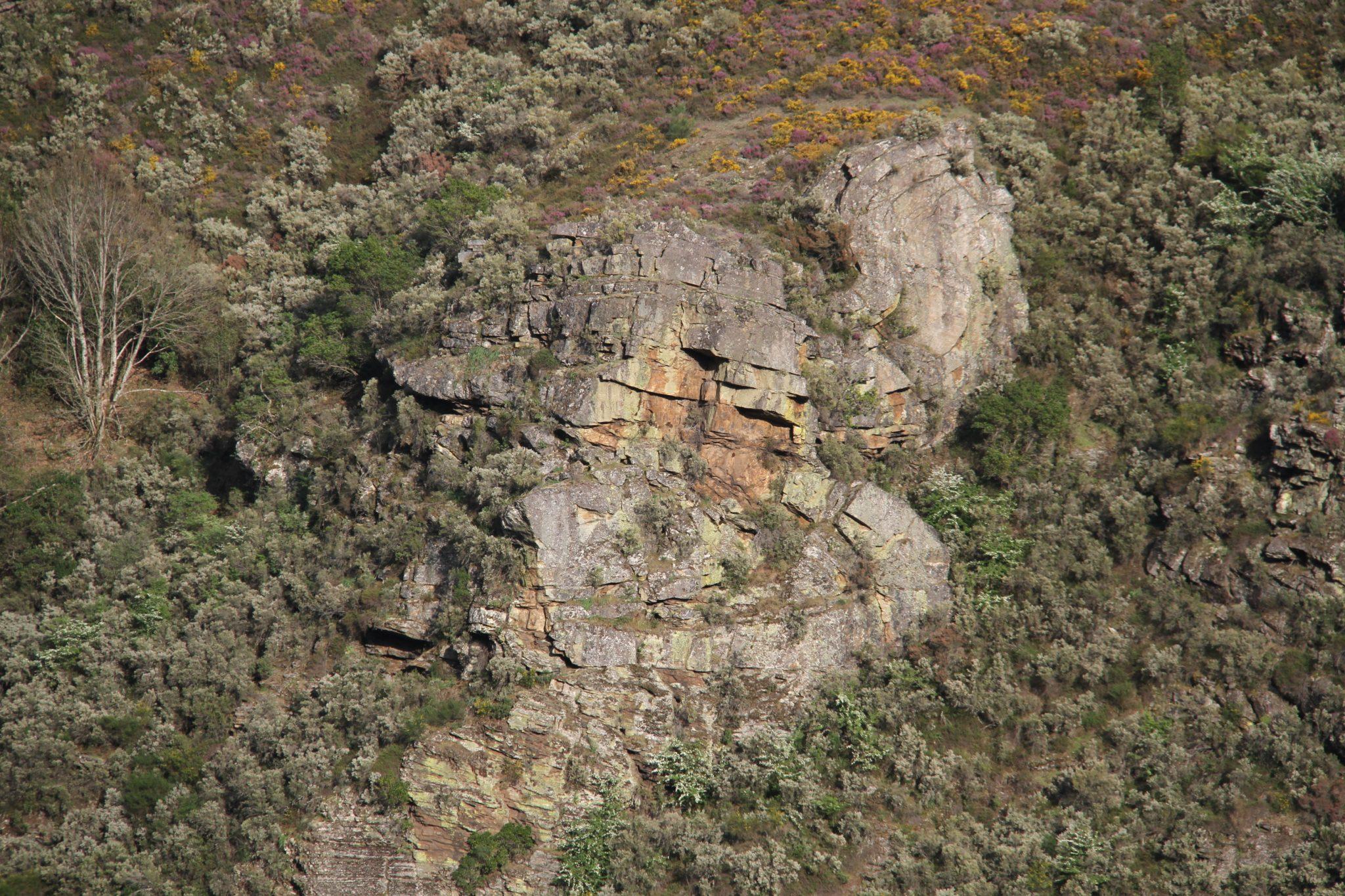 Vista do val dende o Miradoiro de Penas Rubias situado en Pacios da Serra