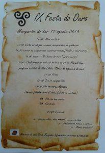 Programa da IX Festa do Ouro en Margaride