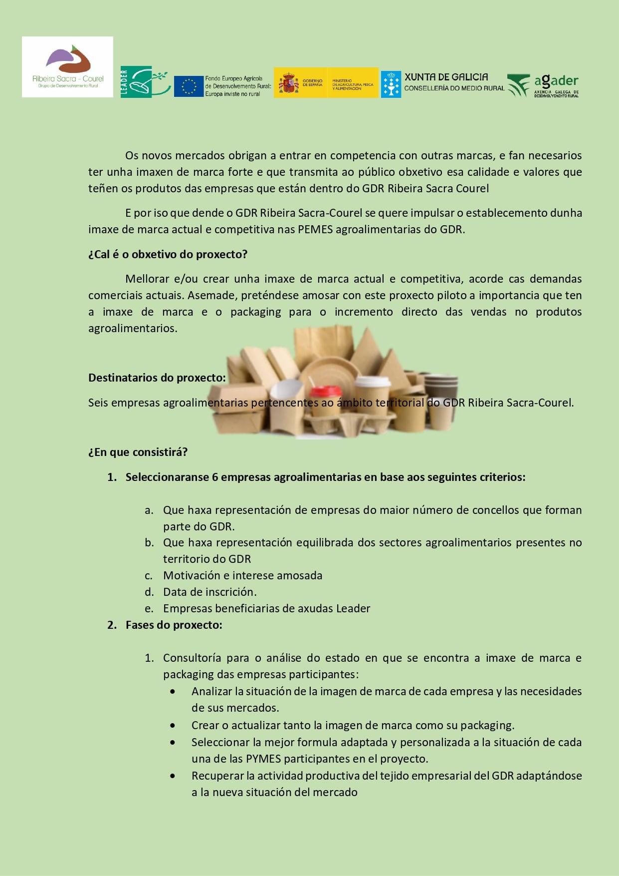 Proyecto de impulso de la imagen de marca y packaging de las pymes. Página 2