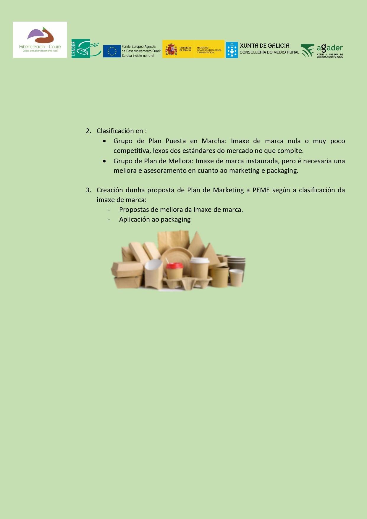Proyecto de impulso de la imagen de marca y packaging de las pymes. Página 3